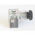 CONNETTORE DIN-24V LED PER VF-VP-AV-VFS   DIN 43650-B