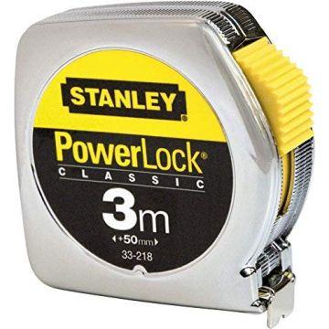 STANLEY FLESSOMETRO POWERLOCK 3MT CASSA PLASTICA