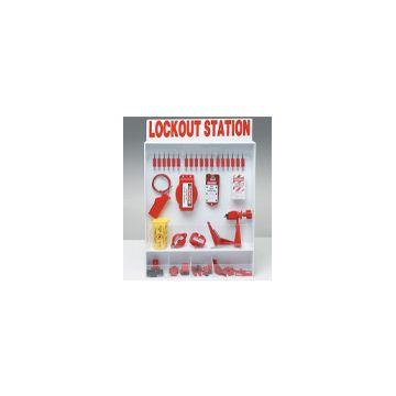 BRADY ADJUSTABLE LOCKOUT STATION EXTRA-LARGE 635X762 MM