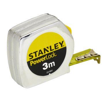 STANLEY FLESSOMETRO POWERLOCK 3MT CASSA METALLICA